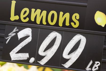 Supermarket sign Imagens