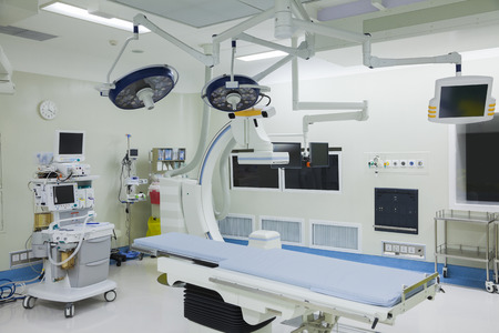 Operating room with surgical equipment, hospital, Beijing, China Standard-Bild