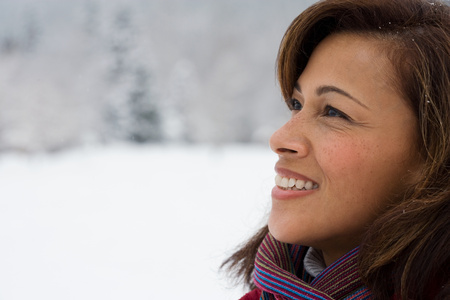 ethnic mix: Profile of a mature woman