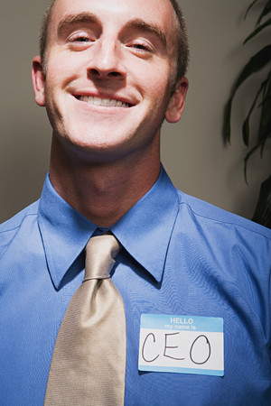 Businessman achieving success Stock Photo