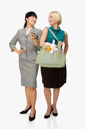 Businesswoman and mother Stock Photo