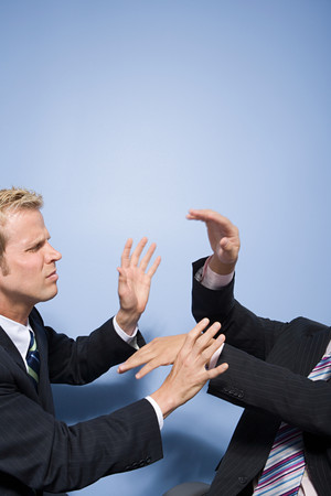 30 to 40 year olds: Businessmen fighting