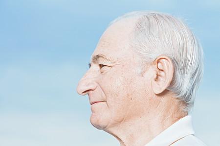 Profilo di un uomo anziano Archivio Fotografico