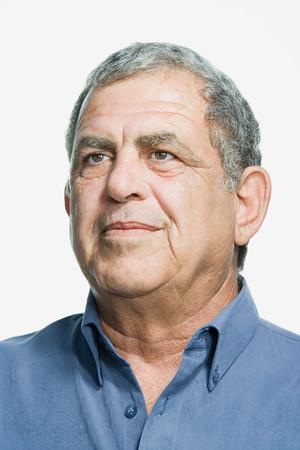 ponderous: Portrait of a senior adult man