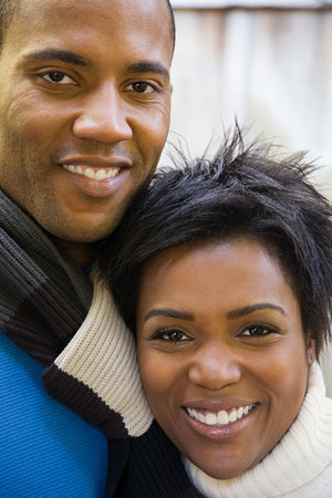 afro caribbeans: Couple smiling