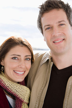 30 to 40 year olds: Portrait of a heterosexual couple Stock Photo