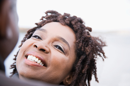afro caribbeans: A woman smiling