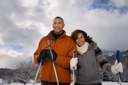 Portrait of a mature couple photo