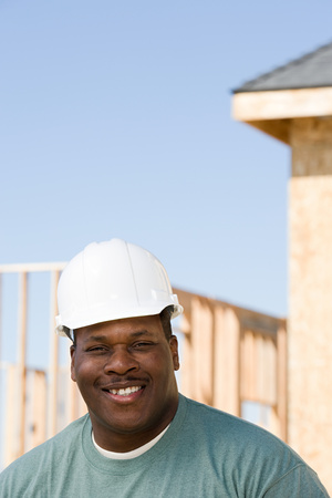 1 adult only: Portrait of a builder
