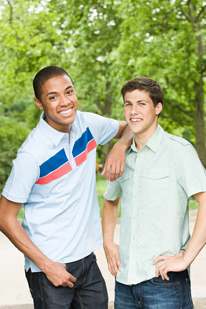 afro caribbean ethnicity: Two young male friends