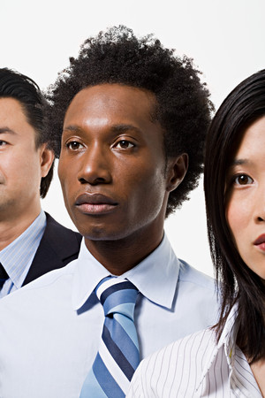 afro caribbean ethnicity: Group of office workers