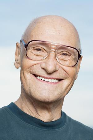 the ageing process: Smiling senior man