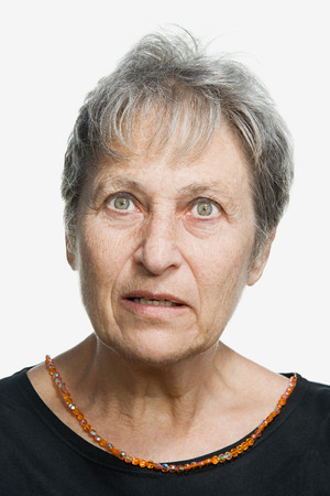 grown ups: Portrait of a mature adult woman Stock Photo