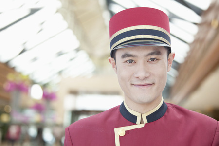 30 34 years: Portrait of Bellhop, Close-Up