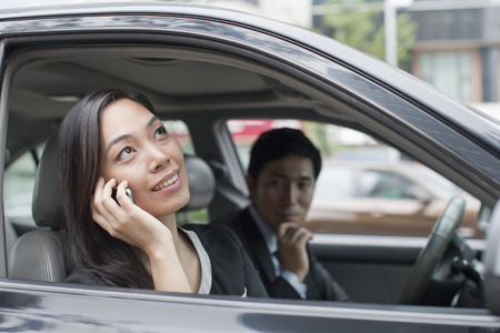 Professional Business People In Car photo