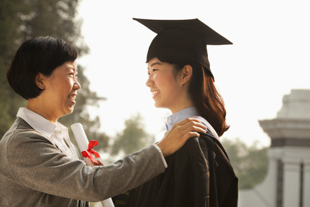 Proud Mother of a Graduate Stock Photo