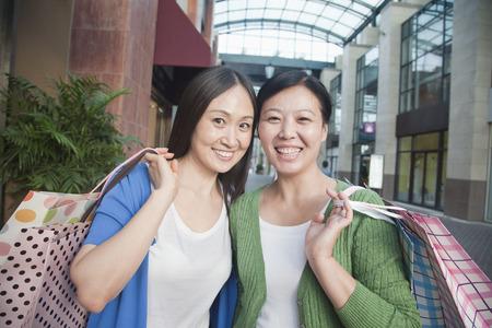 mature women: Two Mature Women In Shopping Mall