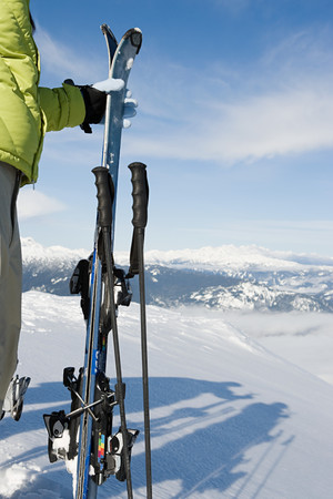 cropped shots: Skier