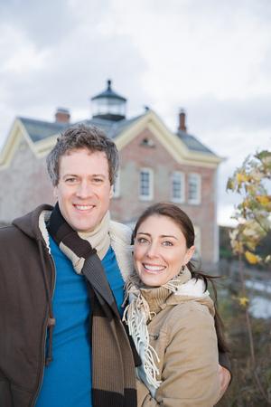 casal heterossexual: Retrato de um casal heterossexual Banco de Imagens