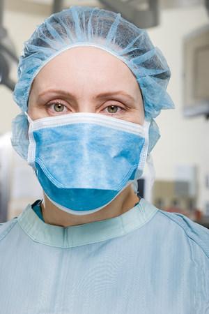 Surgeon in operating theatre Stock Photo