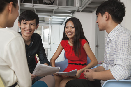 chinese businessman: Colleagues in Creative Meeting Stock Photo
