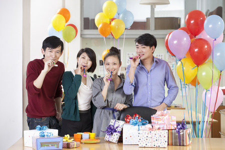 Business People Enjoying Office Party photo