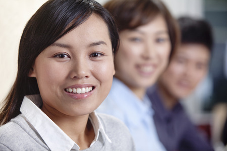 corporate business: Portrait of Smiling Businesswoman Stock Photo