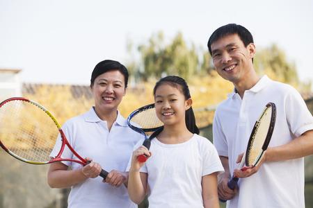 家族テニス、肖像画