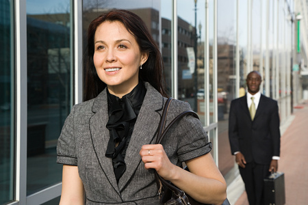 afro caribbean ethnicity: Businesspeople walking