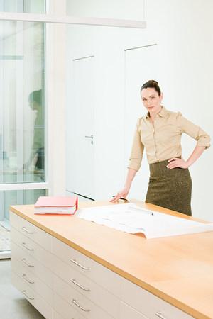 female architect: Portrait of a female architect