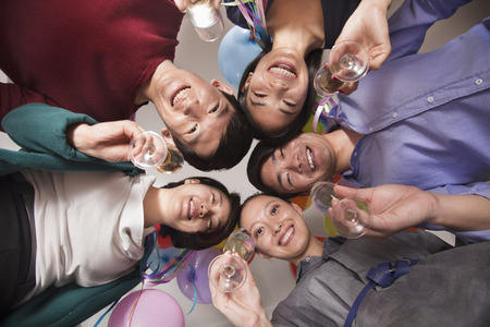 Business Colleagues Celebrating With Champagne photo
