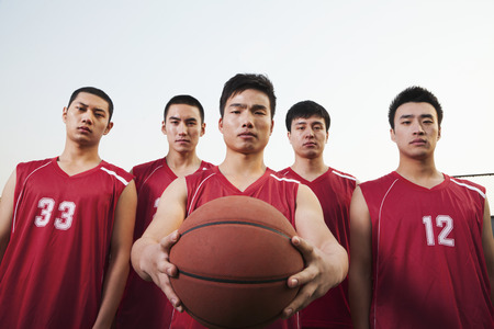 Basketball team, portrait  photo