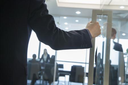 Geschäftsmann Eingabe eines Office-