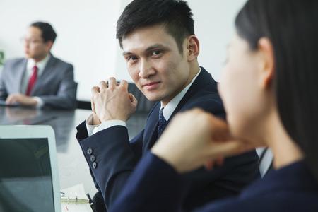 Businessman Looking at Camera photo