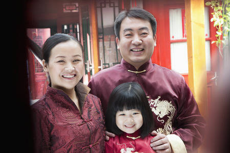 traditional clothing: Family Portrait in traditional clothing Stock Photo