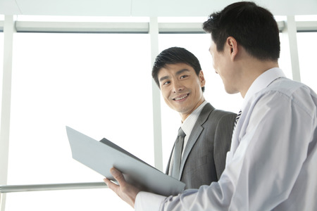 two persons only: Two businessmen working together