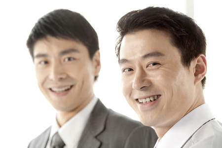 two persons only: Portrait of businessman