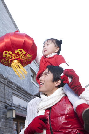 new age: Father and daughter Celebrate Chinese New Year