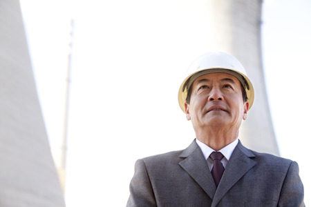 chinese ethnicity: Businessman in Hardhat