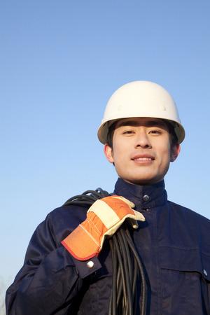 laborer: Manual laborer looking at camera Stock Photo
