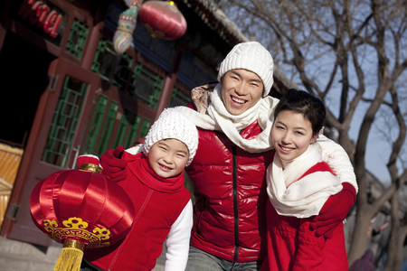 new age: Family Celebrates Chinese New Year