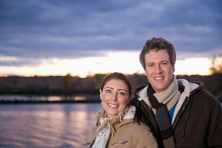 heterosexual: Portrait of a heterosexual couple Stock Photo