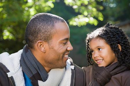 black girl: Vater und Tochter Lizenzfreie Bilder