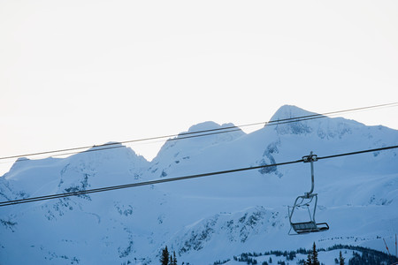 chair lift: Chair lift and mountains