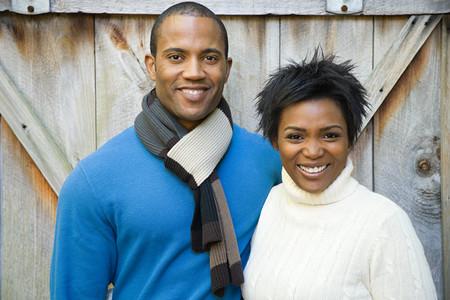 femme africaine: Couple souriant