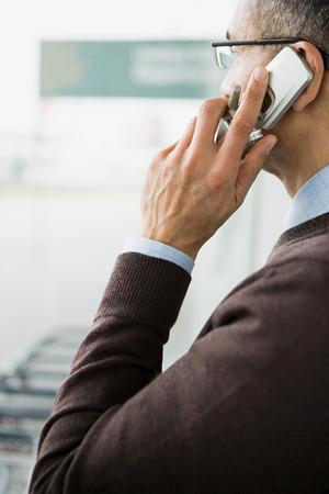 businessman waiting call: Man on cellphone