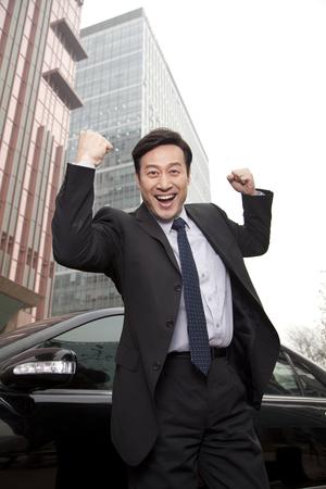 40 44 years: Businessman expressing enthusiasm Stock Photo