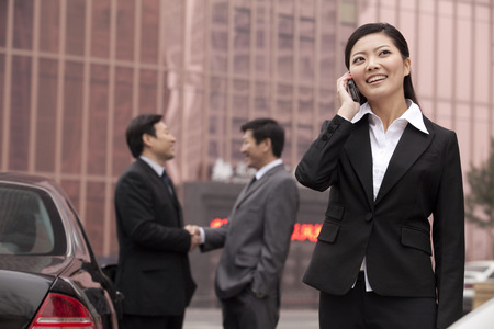 40 44 years: Young Businesswoman Talking on the Phone