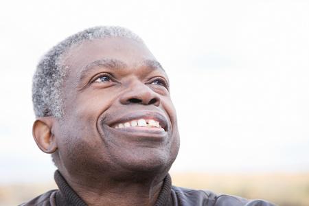 one senior adult man: Headshot of a senior man