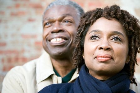 black person: One couple Stock Photo